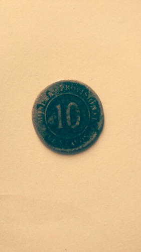 antigua moneda provisional 1879 10 centavos