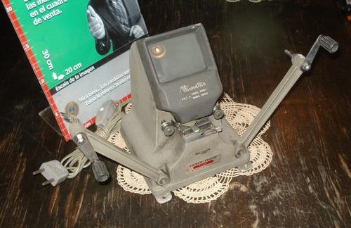 antigua moviola editora minette eight 8mm (5261)