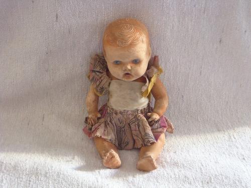antigua muñeca de goma fundacion eva peron original historic