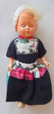 antigua muñeca holanda souvenir traje tipico suecos 18 cm