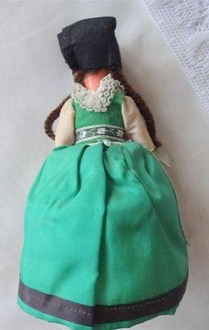 antigua muñeca souvenir vestimenta tipica 22 cm