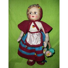 Antigua Muñeca Tipo Paño Lenci