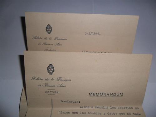 antigua papeleria 1945 policia de la provincia de bs as