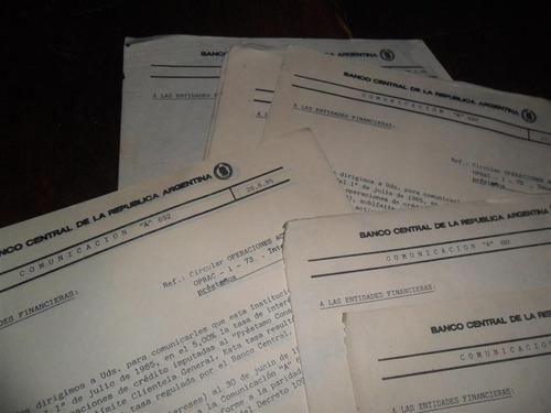 antigua papeleria banco central comunicados 1985 aparicio