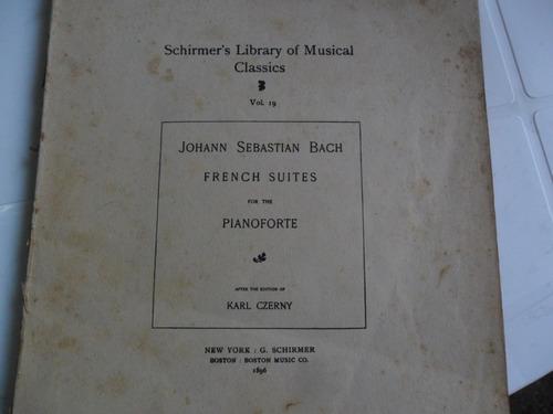 antigua partirura bach piano karl czerny 1896 schirmer music