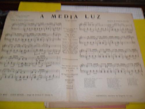 antigua partitura a media luz c c lenzi e donato lucy clary