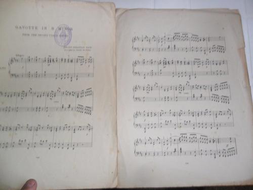 antigua partitura gavotte in b minor bach piano