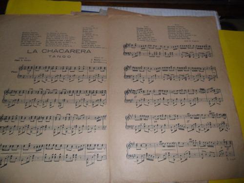 antigua partitura la chacarera juan a caruso maglio servidio