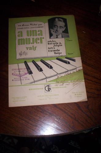 antigua partitura para piano vals a una mujer ser 1