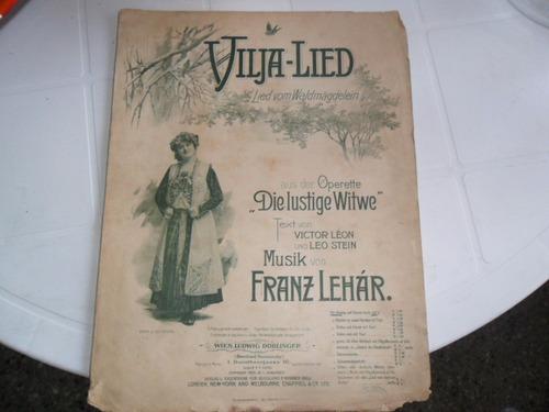antigua partitura vilja lied franz lehar l doblinger