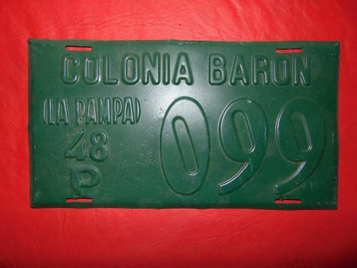 antigua patente de colonia baron año 1948 la pampa