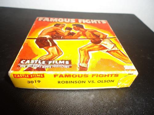 antigua  pelicula  para   proyector  boxeo..