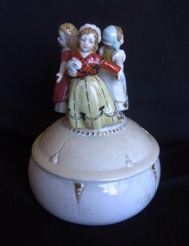 antigua pieza de porcelana alemana-katzhutte thuringia