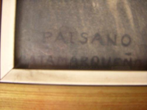antigua pintura cuadroaño1932paisano catamarca de h pereyra