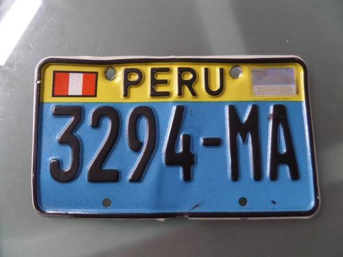 antigua placa de moto oficial   placa accesorio  perú