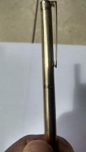 antigua pluma bolígrafo colibrí sheaffer colección oro usada