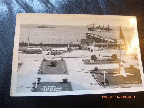 antigua posta plaza de armas puerto montt  1948 (61f1