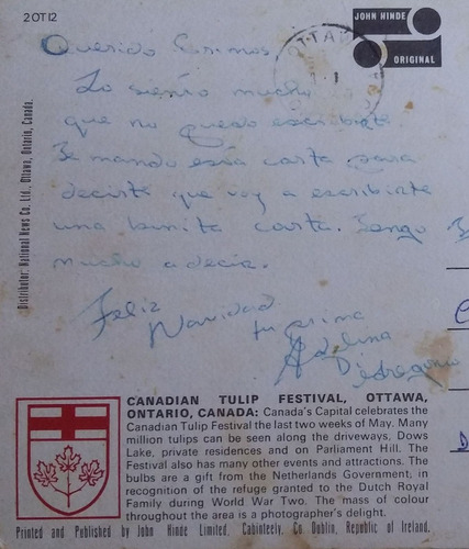 antigua postal años 70 canada ottawa ontario