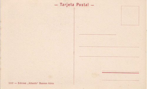 antigua postal atlantic molino parque saavedra buenos aires