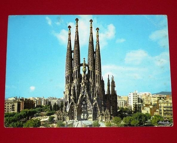 Antigua Postal Barcelona Templo De La Sagrada Familia Espana S 13 00