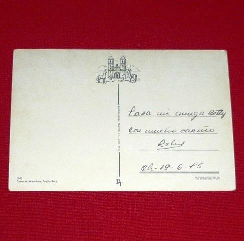 antigua postal caleta de huanchaco trujillo perú 1975 swiss