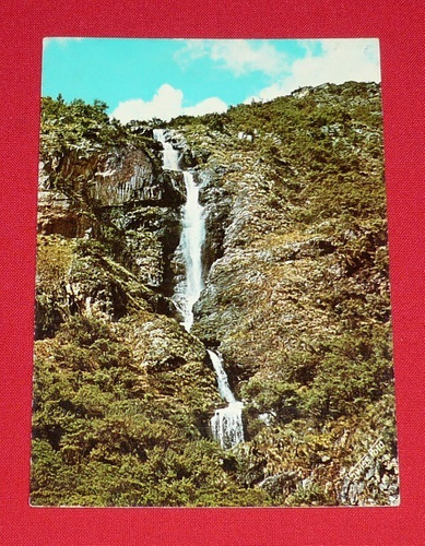 antigua postal churín perú cascada ana maray swiss foto 1974