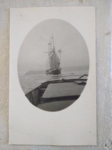 antigua postal de barco