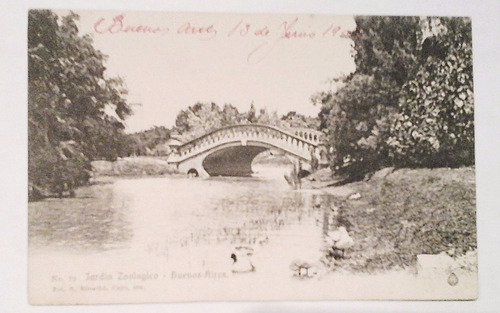 antigua postal de buenos aires jardín zoológico 1908