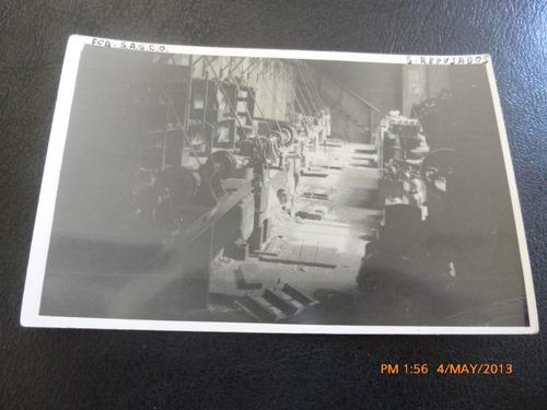 antigua postal de fabrica maquinaria antigua