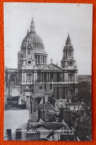 antigua postal de la ciudad de londres inglaterra