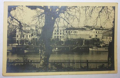 antigua postal del gran hotel schuster, valdivia