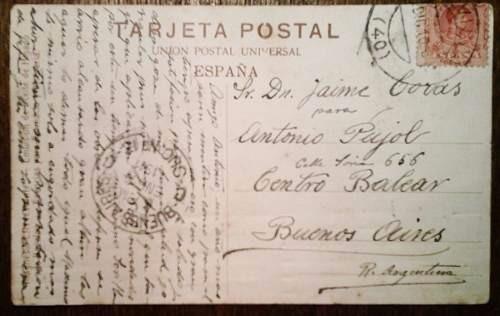 antigua postal españa, valencia 1911