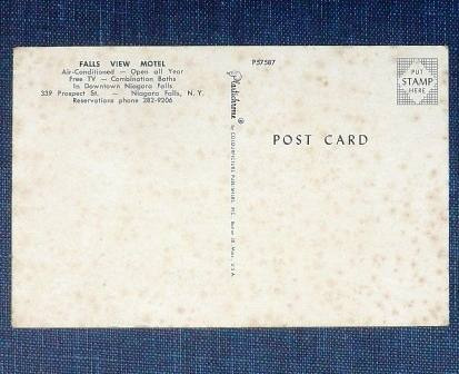 antigua postal falls view motel cataratas niagara usa rara