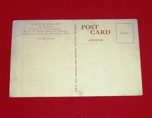 antigua postal fortune telling adivinación piazetta sepia