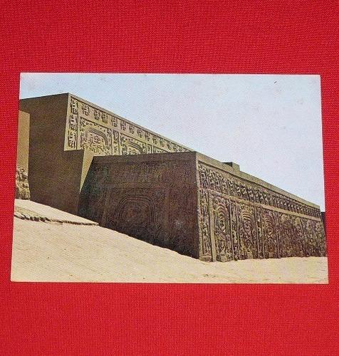 antigua postal huaca el dragón trujillo perú swiss foto 1966