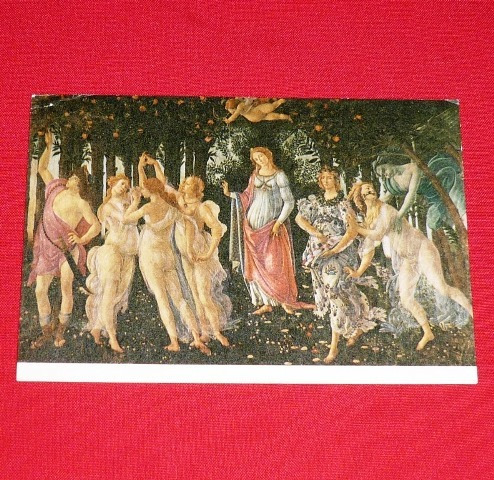 antigua postal la primavera botticelli florencia italia arte