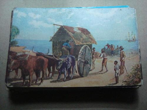 antigua postal llegada de la virgen de luján al puerto 1630