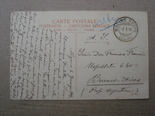 antigua postal lugano casino - 1908
