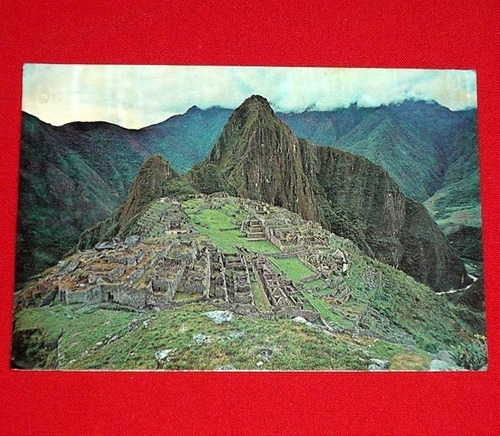 antigua postal machu picchu 1973 vista panorámica cusco perú