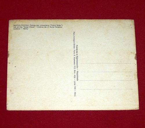 antigua postal machu picchu colina intihuatana eismann cusco