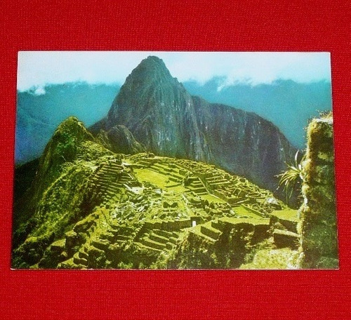 antigua postal machu picchu cusco swiss foto 1977 faucett