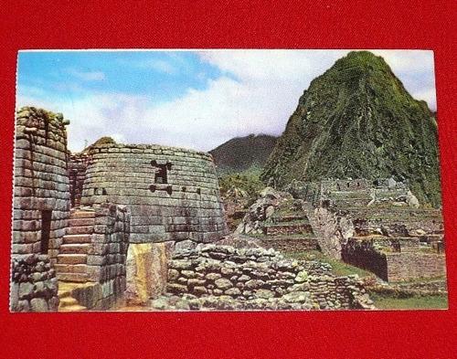 antigua postal machu picchu vista parcial cusco color ekosa
