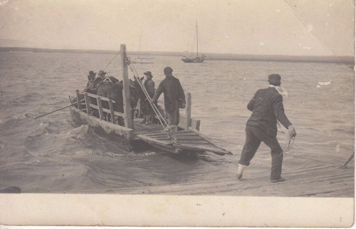 antigua postal maritima desembarco de caballos