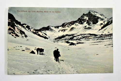 antigua postal mesa de los carros chile kirsinger circa 1907