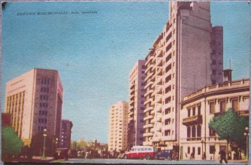 antigua postal montevideo uruguay avenida agraciada