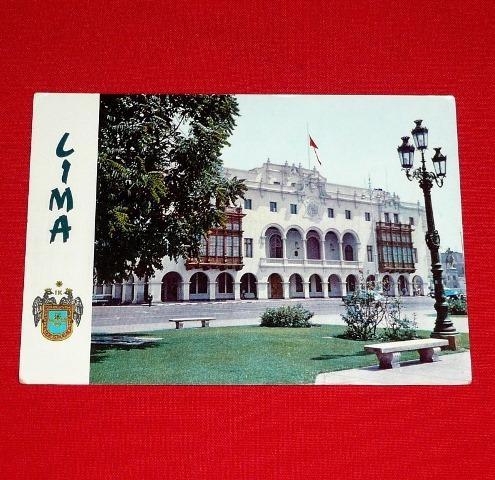 antigua postal municipalidad de lima perú 1982 plaza d armas