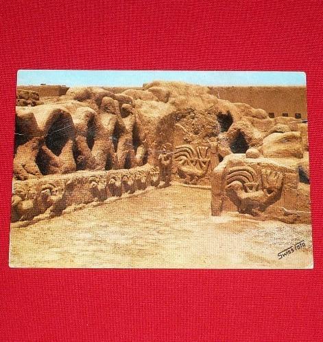 antigua postal muros frisos tschudi trujillo swiss foto 1979