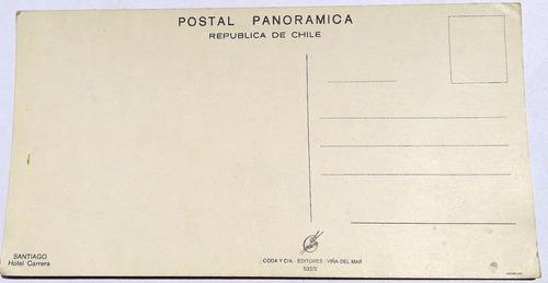 antigua postal museo hotel carrera santiago de chile.