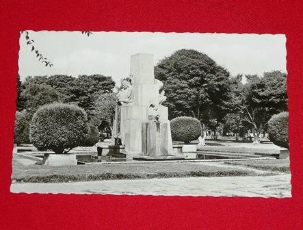 antigua postal parque de la reserva lima perú foto b/n