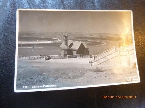 antigua postal  pichilemu  foto mora